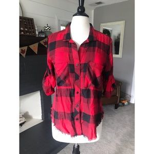 Women's button up flannel